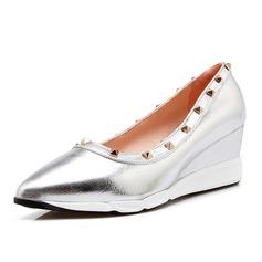 Femmes Similicuir Talon compensé Bout fermé chaussures