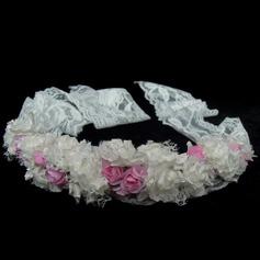 Stylish Artificial Silk/Lace Flower Girl's Headwear