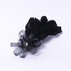 Elegant Rhinestone/Feather/Net Fascinators