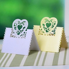Heart Design Pearl Paper Place Cards (set of 12) (More Colors)