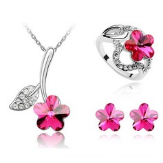 Exquisite Alloy With Imitation Crystal Ladies' Jewelry Sets