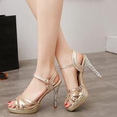 Femmes Similicuir Talon stiletto Sandales avec Boucle Semelle chaussures