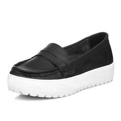 Gerçek Deri Düz Topuk Daireler Kapalı Toe ayakkabı