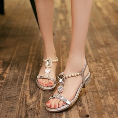 Women's Leatherette Flat Heel Sandals With Crystal Imitation Pearl shoes