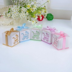 Baby's Day Out Cubic Favor Boxes With Ribbons (Set of 12)