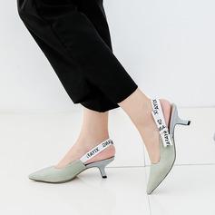 Dla kobiet Material Obcas Stiletto Sandały Czólenka Zakryte Palce Z Wstążka obuwie
