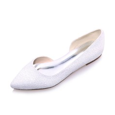 Women's Leatherette Flat Heel Closed Toe Flats