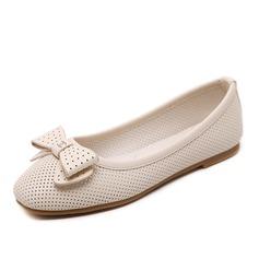 Femmes Similicuir Talon plat Chaussures plates avec Bowknot Autres chaussures