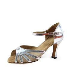 Women's Patent Leather Heels Sandals Latin Wedding Party Dance Shoes
