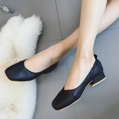 Women's PU Flat Heel Flats Closed Toe With Split Joint shoes