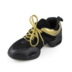 Women's Leatherette Flats Sneakers Practice Dance Shoes