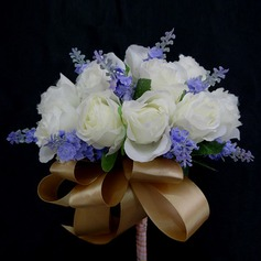 Special Hand-tied Satin Bridesmaid Bouquets