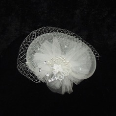 Gorgeous Rhinestone Pearl Net yarn Fascinators