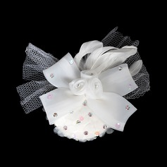 Special Chiffon Tulle Flowers Hair Jewelry