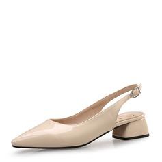 Femmes Similicuir Talon plat Sandales Chaussures plates Bout fermé avec Boucle chaussures