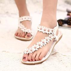 Women's Leatherette Wedge Heel Sandals Peep Toe Slingbacks With Beading Flower Elastic Band shoes