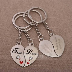 Personalized True Love Chrome Keychains (Set of 4 Pairs)