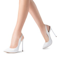 Dla kobiet Prawdziwa Skóra Obcas Stiletto Czólenka Bez Pięty Z Klamra obuwie