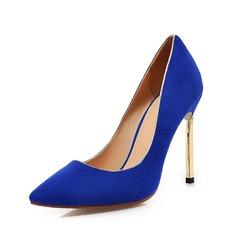Suede Stiletto Heel Pumps Closed Toe shoes