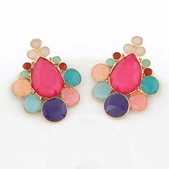 Shining Alloy With Imitation Crystal Ladies' Fashion Earrings