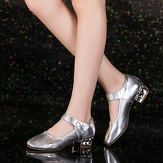 Women's Real Leather Pumps Ballroom Swing With Buckle Dance Shoes