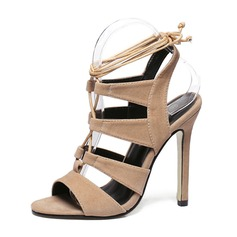 Women's Suede Stiletto Heel Sandals Slingbacks shoes