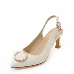 Women's Leatherette Stiletto Heel Sandals Pumps Closed Toe With Sequin Imitation Pearl shoes