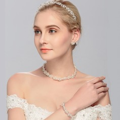 Exquisite Crystal/Imitation Pearls Tiaras