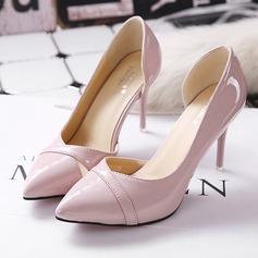 Femmes Similicuir Talon stiletto Escarpins Bout fermé avec Ouvertes chaussures