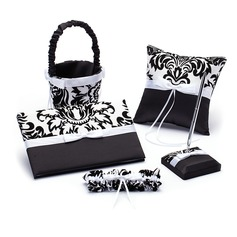 Damask Design Collection Set in Satin With Ribbons/Bow
