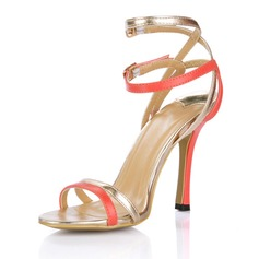 Women's Patent Leather Stiletto Heel Sandals Slingbacks