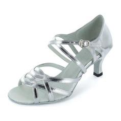 Women's Patent Leather Heels Sandals Latin Dance Shoes