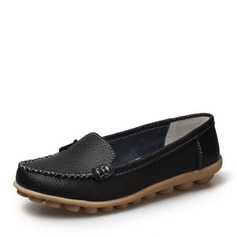 Frauen Echtleder Flascher Absatz Flache Schuhe Schuhe