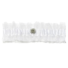 Eternity Satin With Rhinestone Wedding Garters
