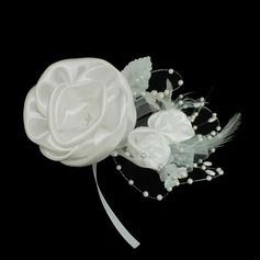 Exquisite Artificial Silk/Feather Hair Flowers