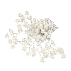 Glamourous Alloy/Pearl Combs & Barrettes