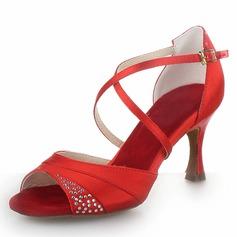 Donna Raso Tacchi Latino con Strass Scarpe da ballo