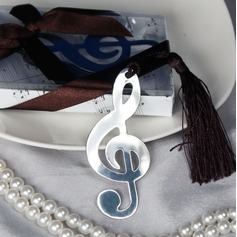 Treble Clef Stainless Steel Bookmarks With Ribbons/Tassel