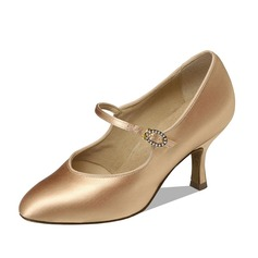 Women's Satin Heels Pumps Modern Dance Shoes