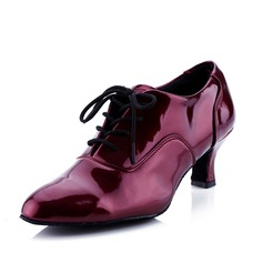 Women's Leatherette Heels Modern Ballroom With Lace-up Dance Shoes