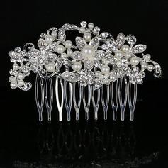 Elegantní Drahokamu/Slitina/Faux Pearl Jehlice do vlasů