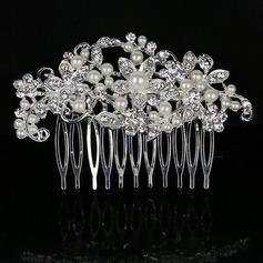 Elegant Rhinestone/Alloy/Imitation Pearls Combs & Barrettes