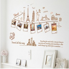 Travel all the way PVC Wall Stickers